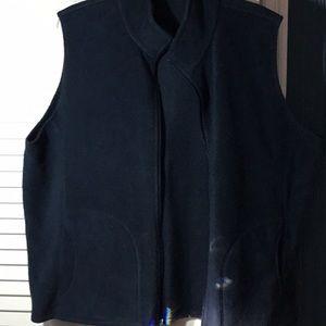 Navy fleece vest